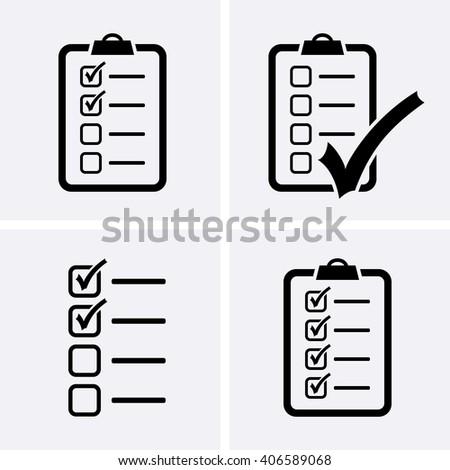 Check List Icons set. Vector - stock vector