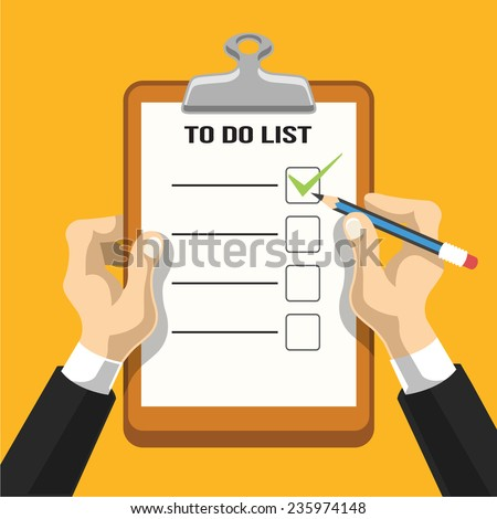 Check list vector flat illustration - stock vector