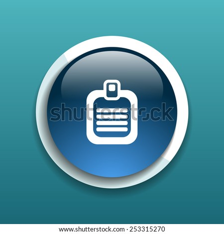 Check list vector icon. Flat design isolated document - stock vector