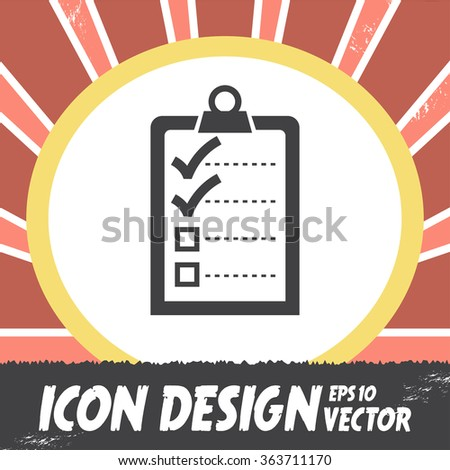 check list with two small ok sign vector icon