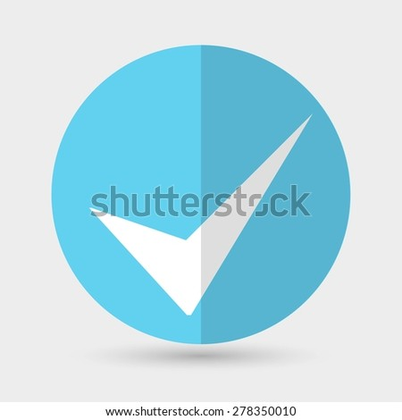 check mark - stock vector