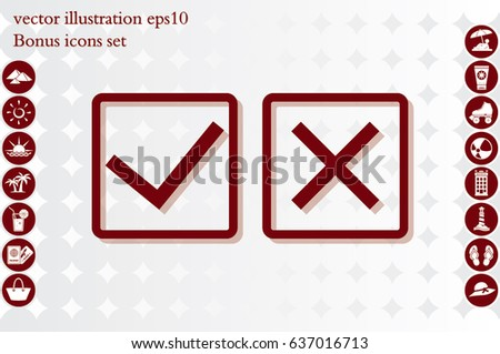 check mark cross icon vector illustration eps10.