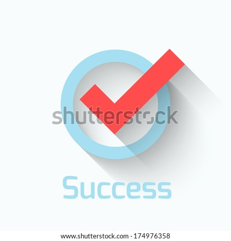 Check mark. Flat icon - stock vector