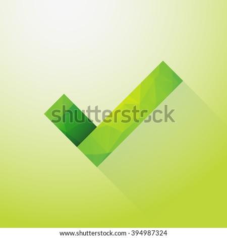 check mark green - stock vector