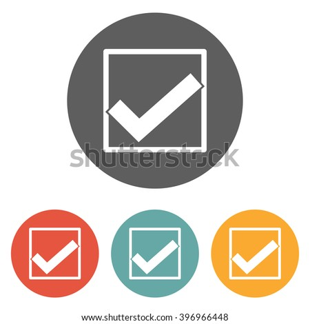check mark icon , right icon - stock vector