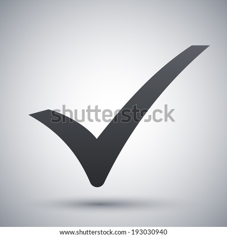 Check mark icon, vector - stock vector