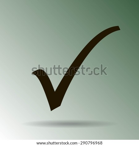 Check mark icon, vector