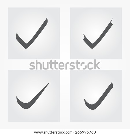 Check mark icons.Vector illustration. - stock vector