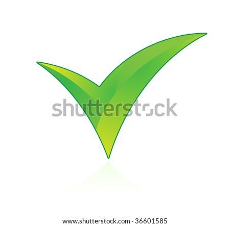 check mark on white background - stock vector