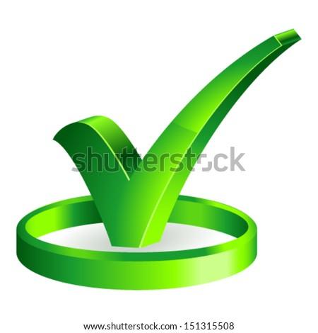 check mark sign - stock vector