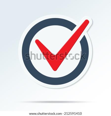 Check mark symbol. Vector tick icon - stock vector