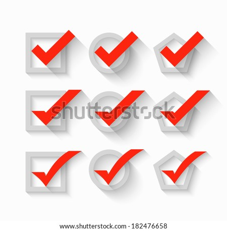 Check mark symbols - stock vector