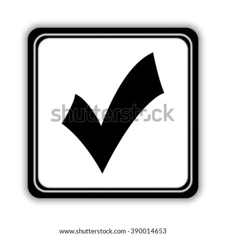 check mark; tick; yes; vote -  black vector icon