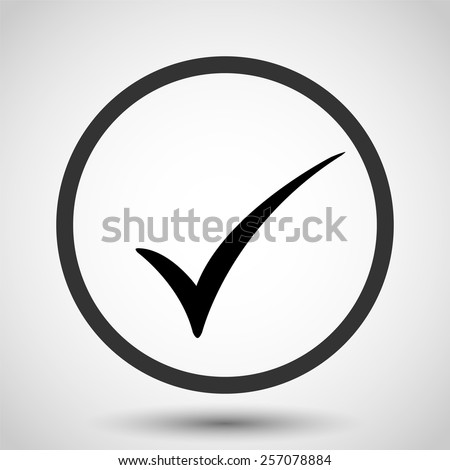 Check mark vector icon - black illustration - stock vector