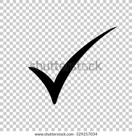 check mark vector icon - black illustration - stock vector