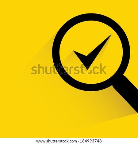 check mark, verification concept background - stock vector