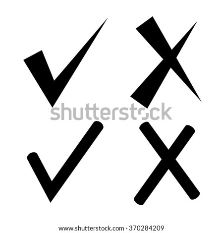 Check Mark Wrong Mark Tick Icons Stock Vector 370284209 Shutterstock