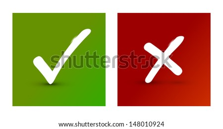 Check marks - stock vector