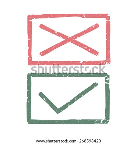 Check marks - stock vector