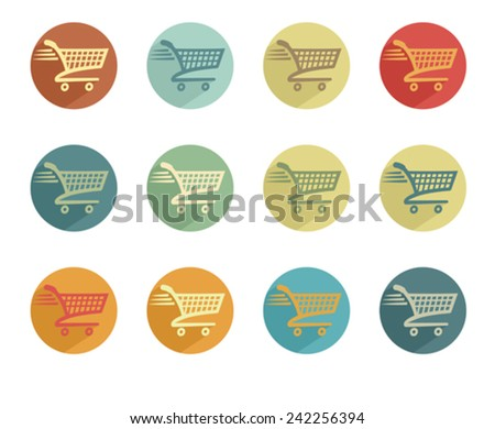 Check Out Icon Retro Symbol Button - stock vector