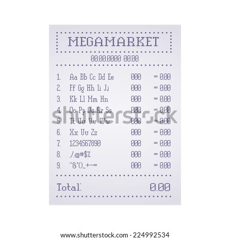 Check out the supermarket template. Vector illustration - stock vector