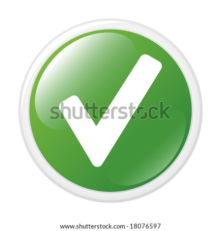 Check symbol. Button. Vector icon