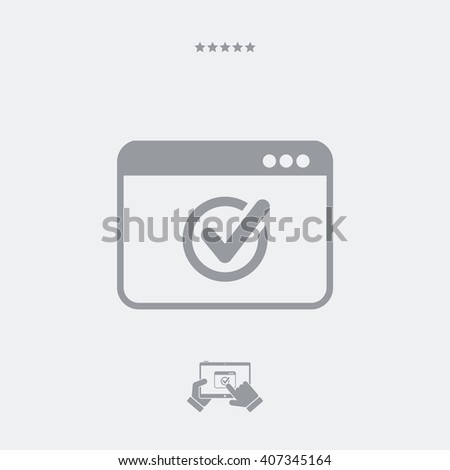Check window icon - stock vector