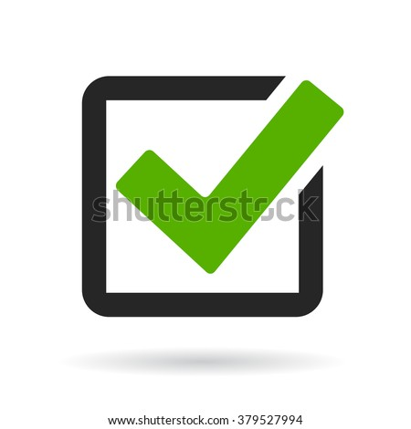 Checkbox icon vector illustration isolated on white background - stock vector