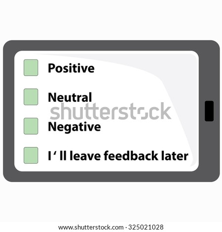 checkboxes on a tablet