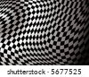 checkered abstract background in black and white showing a finishing flag - stock photo