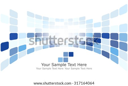 Checkered Background With Text Space. Ideal Balanced Colors in Blue Tone. Suitable For Creating Business, Technological and Other Design. Vector Illustration.