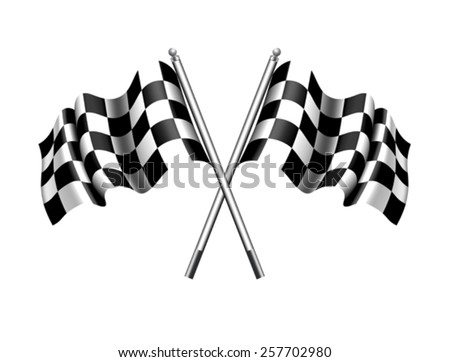 Checkered Chequered Flag - stock vector