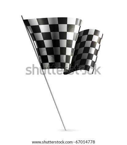 Checkered Flag, eps10 - stock vector