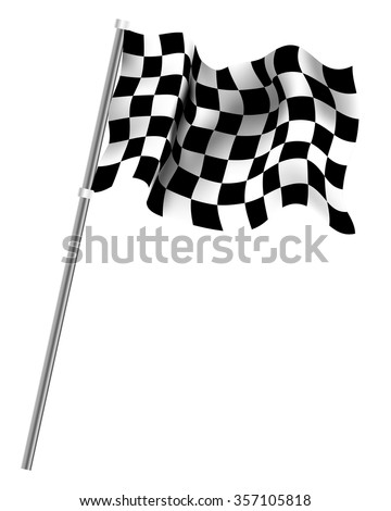 checkered flag isolated