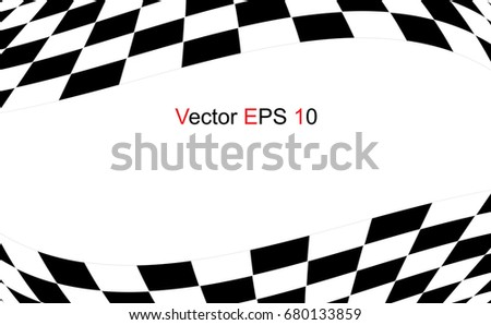 checkered flag racing flag isolated on stock vector 680133859 rh shutterstock com checkered flag vector art checkered flag vector art