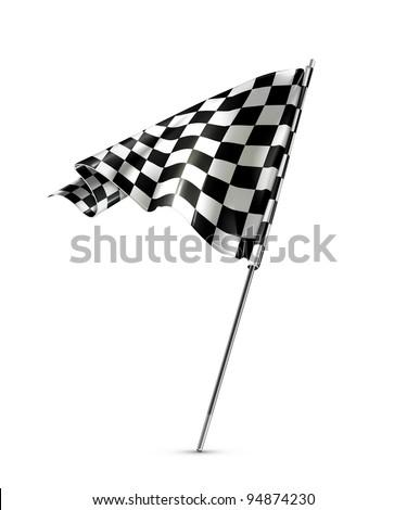 Checkered flag vector - stock vector