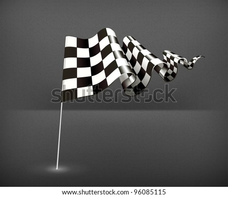 Checkered Flag, Vector - stock vector