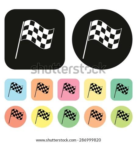 Checkered Flags icon. Racing flags icon. Vector - stock vector