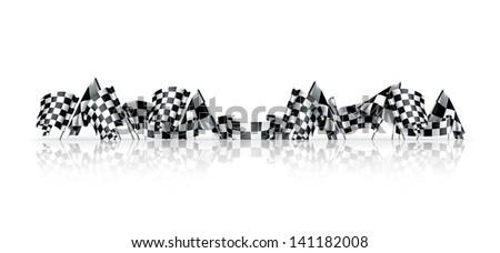 Checkered flags vector - stock vector