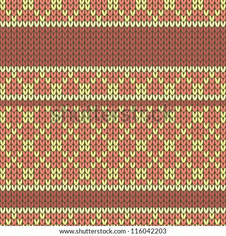 Checkered knitted pattern. Seamless background.