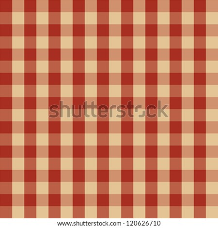 Checkered picnic tablecloth. Seamless pattern - stock vector