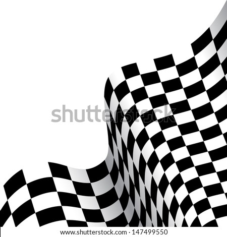 checkered race flag - stock vector