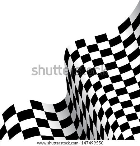 checkered race flag - stock vector