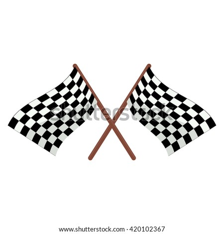 Checkered racing flags illustration cartoon