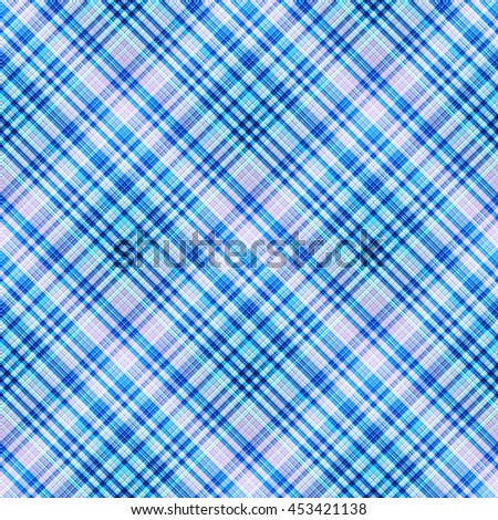 Checkered seamless pattern of interwoven colored thin strips. Motley abstract symmetrical background. Tartan template for fabrics, wallpaper. Vector eps10