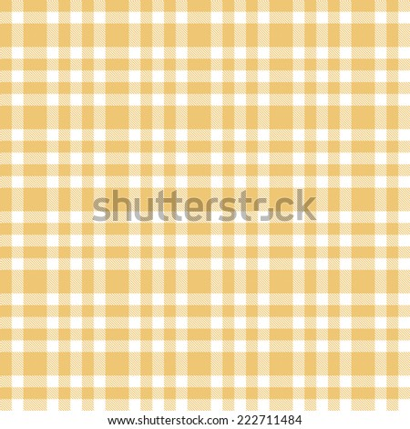 checkered seamless table cloths pattern yellow colored - stock vector