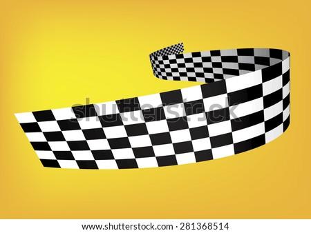 Checkered stripes 3D - stock vector