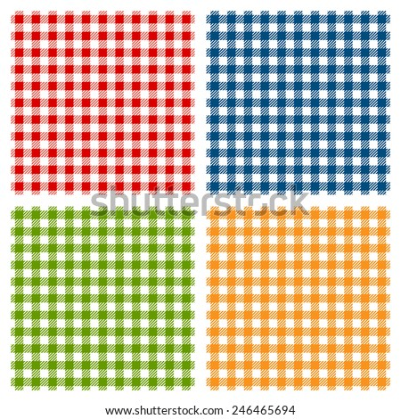 Checkered tablecloth seamless pattern - stock vector