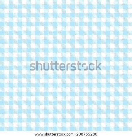 Checkered tablecloths pattern - endless - light blue - stock vector