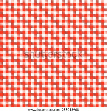 Checkered tablecloths patterns RED - endlessly - stock vector